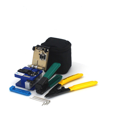 Free shipping/ FTTH FC-6S High Precision +2 Allen Wrench +bag +CFS-2 + Pro'sKit CPFB01 Optical Fiber Cleaver tool kit