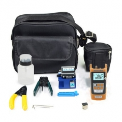 Free shipping/ Fiber Optic FTTH Tool Kit with Fiber Cleaver Optical Power Meter 5km Visual Fault Locator Wire stripper