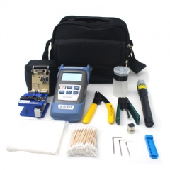 Fiber Optic FTTH Tool Kit With Stripping Pliers And Miller's Pliers Fiber Cleaver And Optical Power Meter 5km Red Laser Pointer